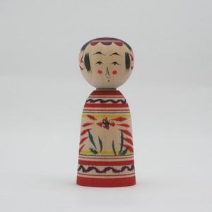 小寸 こけし 星定良工人(弥治郎系) #2-20 伝統こけし