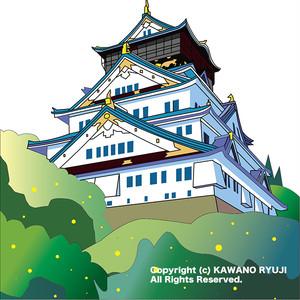 日本のお城_aiデータ(ベクターデータ)