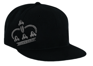 KING HAT BLACK WITH GRAY #HT17
