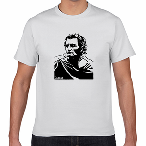 ガイウス・ユリウス・カエサル 古代ローマ 英雄 歴史人物Tシャツ090