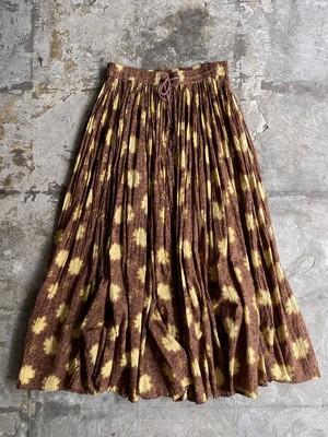 """""""24 KARAT"""" vintage cotton skirt - brown & yellow -"""