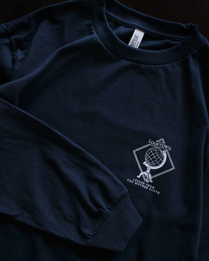 Looptown original 「LESSON FROM THE MOTHER EARTH」L/S Tshirts [Navy]