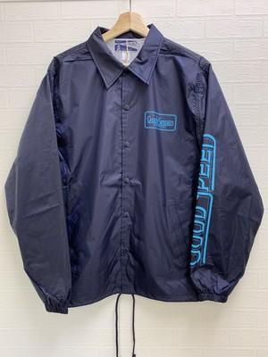 GOODSPEED equipment EVILACT(イーブルアクト) Logo Coach Jacket (spring) (GSE19-WB08) navy