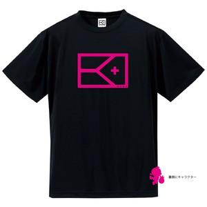 BIG フラッグ×キャラクター Tシャツ(ブラック×ピンク)