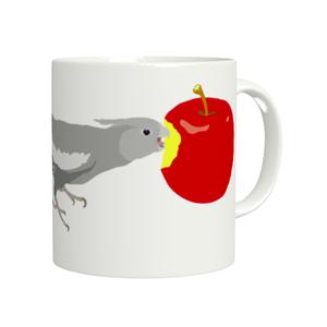ことりちゃんマグカップ(オカメインコ ホワイトフェイス女の子)