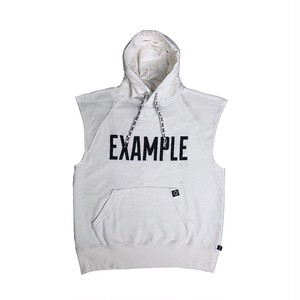 EXAMPLE x EVERLAST SLEEVELESS HOODIE /WHITE