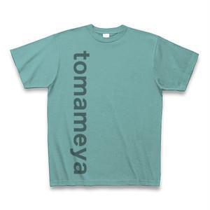 半袖Tシャツ <シンプルな縦ロゴ入り・ミント>