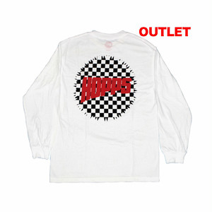 【アウトレット】HOPPS CHECKERRED L/S TEE WHITE サイズM