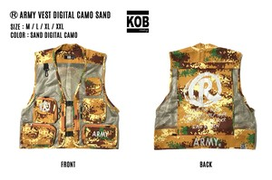 (R) ARMY VEST DIGITAL CAMO SAND