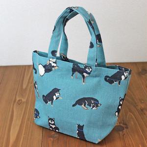 【黒柳さん・柴犬】ミニトートバッグ(内ポケット付)【ランチトート】【犬グッズ】