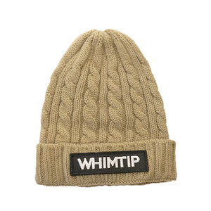 【WHIMTIP】LOGO KNITCAP beige