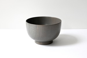 yamanaka lacquer ware gray bowl (M) / 山中塗 中碗 グレー漆