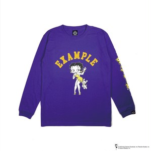 EXAMPLE x BETTY BOOP L/S TEE / PURPLE
