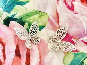 papillon crystal pierce【big】