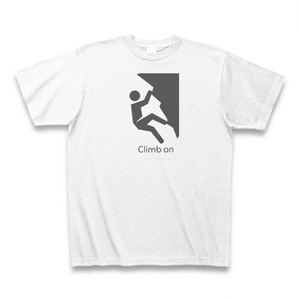 クライミング ボルダリング Tシャツ 湯河原幕岩 メンズ レディース クルーネック コットン Climb on(クライム オン)
