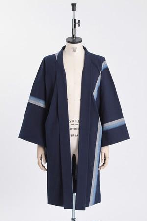 羽織 / 片貝木綿 / One line / 鰹縞(With tailoring)