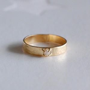 ダイヤモンド原石K18リング [01268]