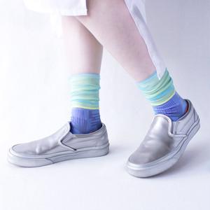 再入荷!!【COQ textile】Sunlight block・ソックス(ブルー)
