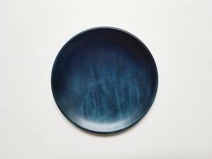 藍染め皿(栃)