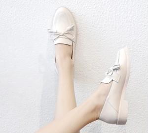 ローファー リボン フェミニン ガーリー 通勤 通学 学生 靴 韓国