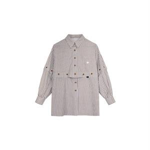 【1 JINN STUDIO】4wayセパレートストライプシャツ