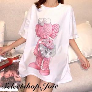 【Tシャツのみ】スパンコールグラフィックTシャツ 2色展開