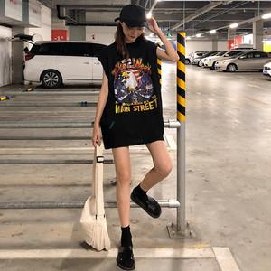 ノースリーブ ルーズ ロック Tシャツ 686