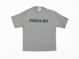 TENNIS BOY Champion Tee OXグレー×ネイビー TS-106