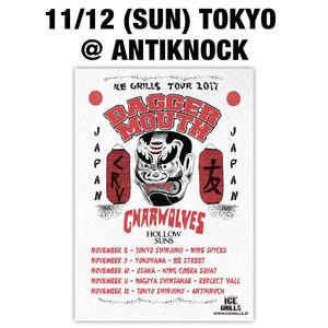 【送料無料/ステッカー付】11/12 (SUN) TOKYO @ ANTIKNOCK 前売りチケット