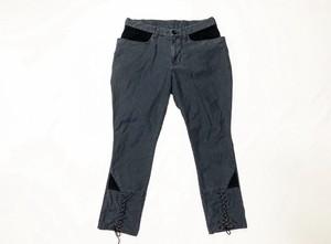 19AW 硫化染めバックサテンブリーチーズ / Sulfide dyeing back satin breeches