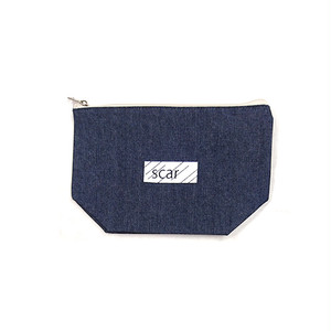 scar /////// BLACKBOX DENIM DAILY POUCH (Medium) (Indigo)