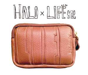 【HALO × LIFEsize】LEATHER ZIP COIN CASE/Basketball