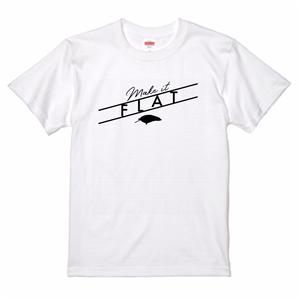 Make it FLAT Tee (White)