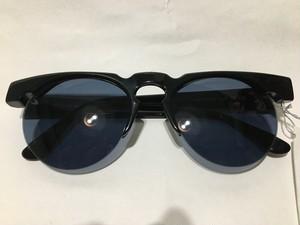 希少 フランス製 IDC 80s~90s デッドストック サングラス ブラック 黒フレーム ブルー系レンズ アランミクリ等お好きな方にも