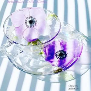 【母の日プレゼント】紫アネモネティーカップ1つ|母の日ギフト・還暦祝い・古希祝い・退職祝い・誕生日プレゼント