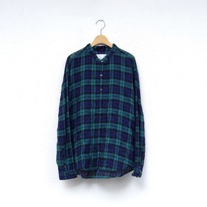 MUYA  60/1 Atelier shirts relax stand collar black watch