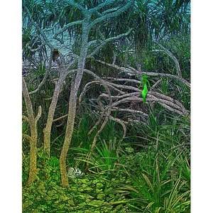 デジタルアート 神秘の森・30(静寂03)