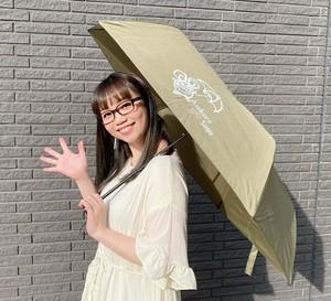 晴雨兼用★UVカット折りたたみ傘【カーキ】