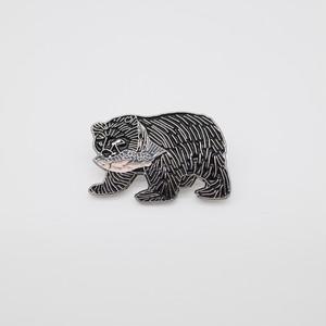 23546pins  木彫り熊 BLACK ピンズ