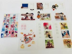 四季日付 マステ巻きカード・ヌードカード 7枚