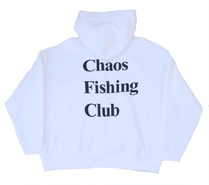 Chaos Fishing Club OG LOGO HOODIE WHITE