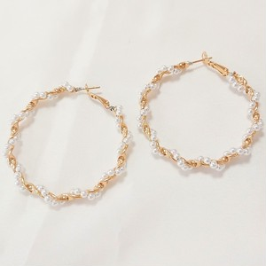 Pearl twist pierce[送料無料]/パールツイストピアス
