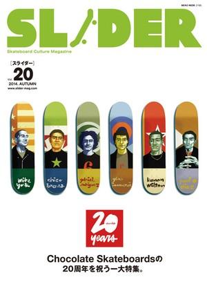 SLIDER skateboard culture Magazine 2014 AUTUMN vol.20
