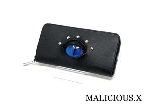 cat eye  wallet / blue × pink