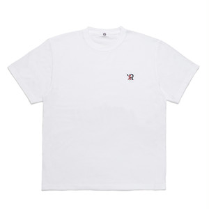 RUEED LOGO EMBROIDERY T-SHIRT / WHITE-RED
