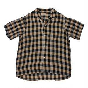 """""""COOK'S""""  S/S Open Collar Shirts"""