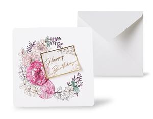 12種類のスクエアグリーティングカード 《Spring Wreath スプリング・リース》