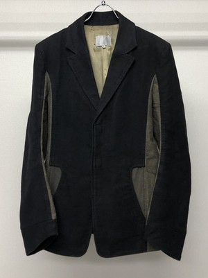 2000s RON ORB CURVED SLEEVE MOLESKIN JACKET