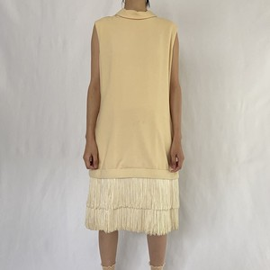 70's | Tiered fringe dress (V4670A)