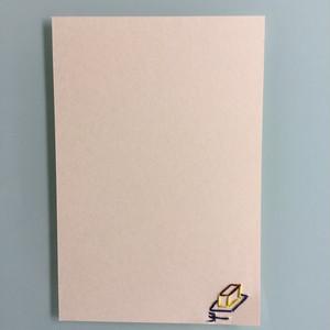 刺繍ポストカード(カステラ)
